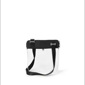 NWT Baggalini clear stadium crossbody bag